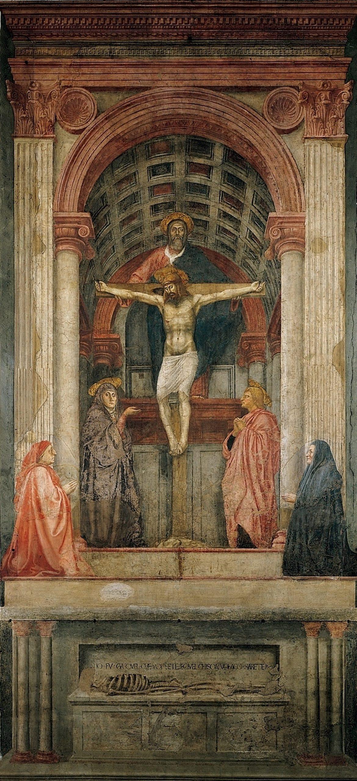 Masaccio, The Holy Trinity, c. 1426-1428, fresco, Santa Maria Novella, Florence.