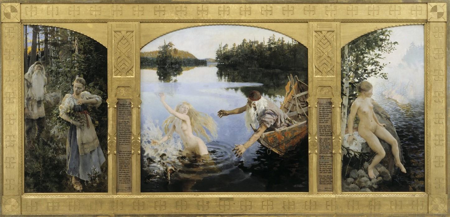 Akseli Gallen-Kallela, The Myth of Aino, c. 1891, oil on canvas, Ateneum, Helsinki.