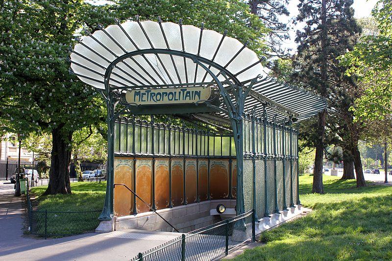 Porte Dauphine Metro Station Entrance, Hector Guimard, 1900–01