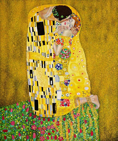 The Kiss, Gustav Klimt, 1907–08, Österreichische Galerie at the Belvedere Museum, Belvedere, Vienna, https://www.belvedere.at/en/kiss-gustav-klimt