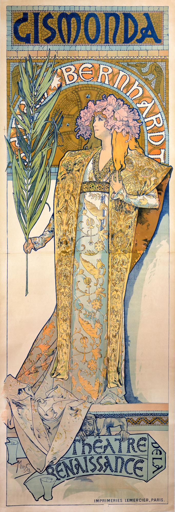 Gismonda, Alphonse Mucha, 1894, http://www.muchafoundation.org/en/gallery/browse-works/object/21