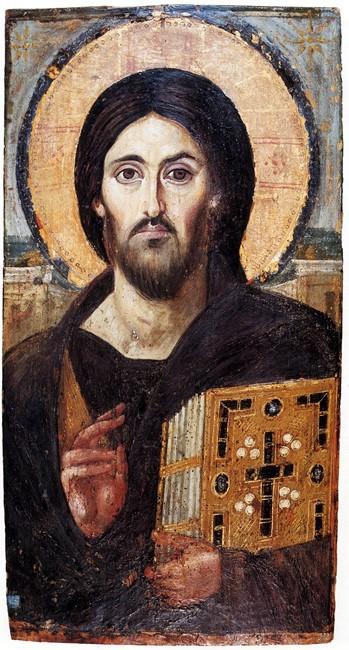 Christ Pantocrator, c. 6th century AD, Saint Catherine's Monastery, Sinai.
