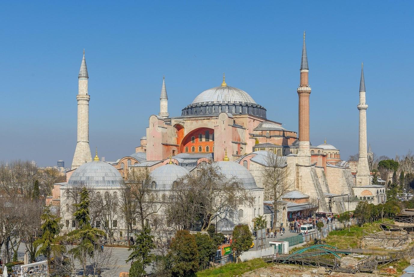 Hagia Sophia, c. 537 AD, Istanbul, Turkey.
