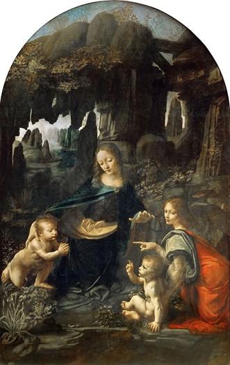 Leonardo da Vinci, Virgin of the Rocks, c. 1483-86, oil on panel (transferred onto canvas), the Louvre, Paris.